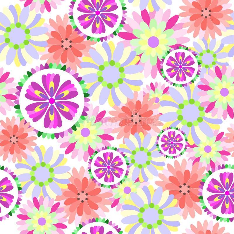 无缝花卉的花纹花样 库存例证