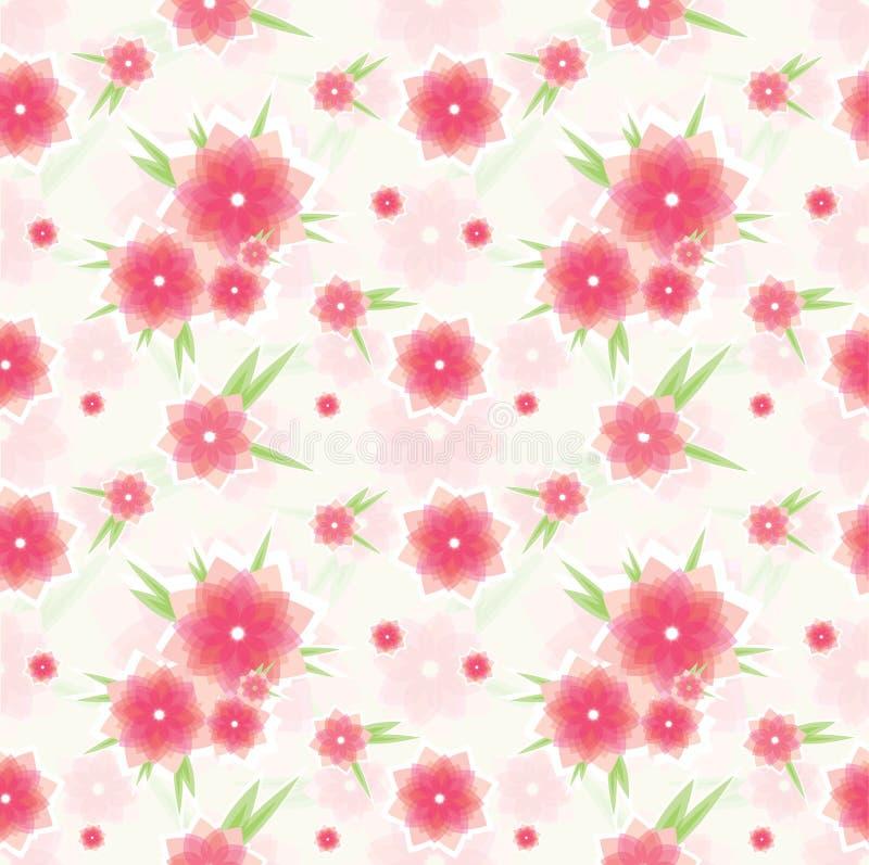 无缝花纹花样的粉红色 向量例证