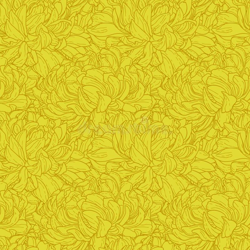 无缝菊花的模式 库存例证