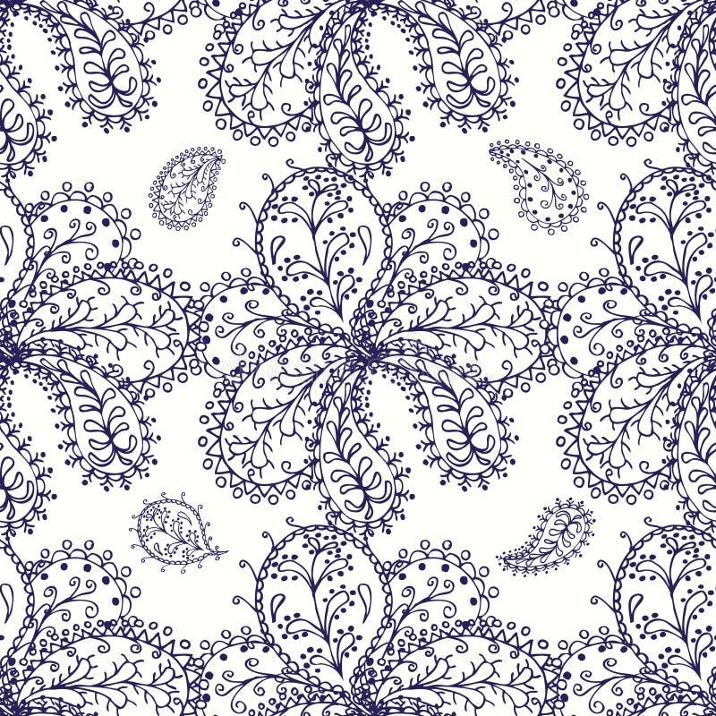 Download 无缝蓝色的模式 向量例证. 插画 包括有 靠山, 蓝色, 本质, 例证, 艺术, 花卉, 设计, 反气旋 - 59102973