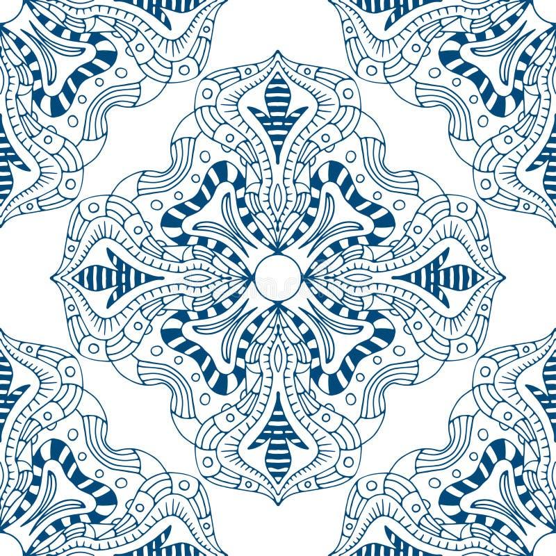 Download 无缝蓝色的模式 向量例证. 插画 包括有 背包, 花卉, 德尔福特, 印第安语, 聚会所, 可耕的, 例证 - 59103693