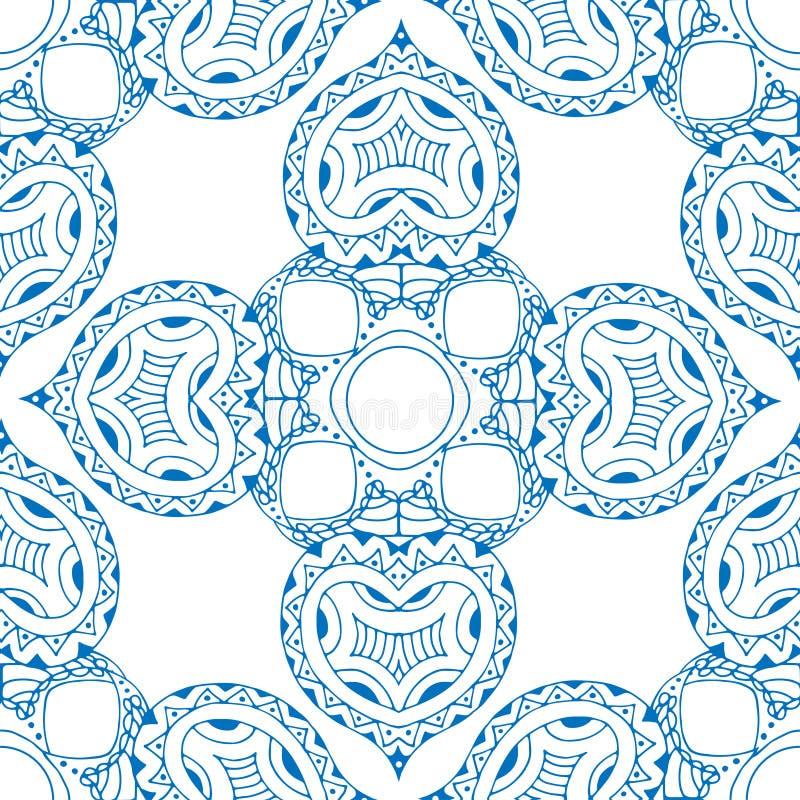 Download 无缝蓝色的模式 向量例证. 插画 包括有 decoupage, 卷曲, 图象, 印度, 例证, 装饰品, 乱画 - 59103771