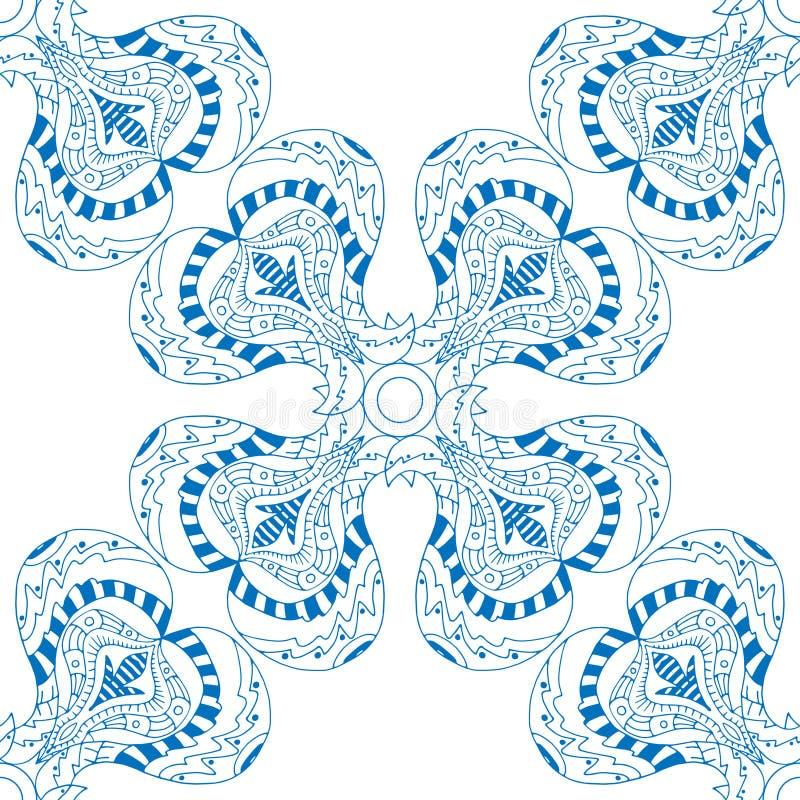 Download 无缝蓝色的模式 向量例证. 插画 包括有 织品, 印第安语, 布料, brusher, 种族, 装饰, 佩兹利 - 59103851