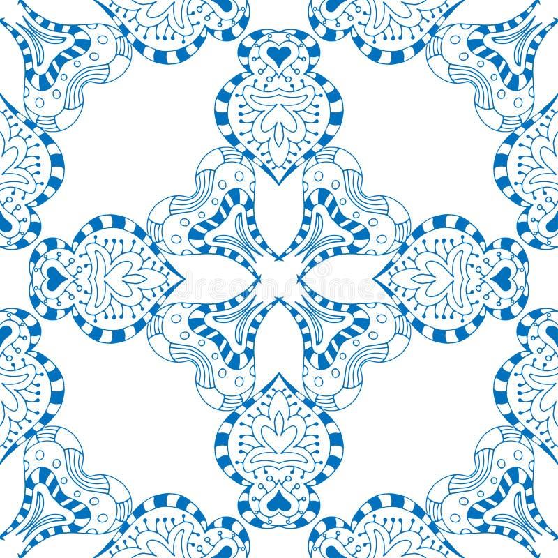 Download 无缝蓝色的模式 向量例证. 插画 包括有 油漆, 可耕的, 华丽, 东方, 装饰品, 德尔福特, 背包, 墨水 - 59104005