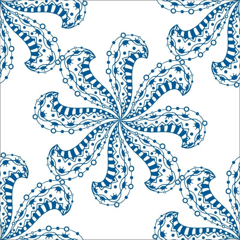 Download 无缝蓝色的模式 向量例证. 插画 包括有 印第安语, decoupage, 油漆, 可耕的, 方式, 模式 - 59105010
