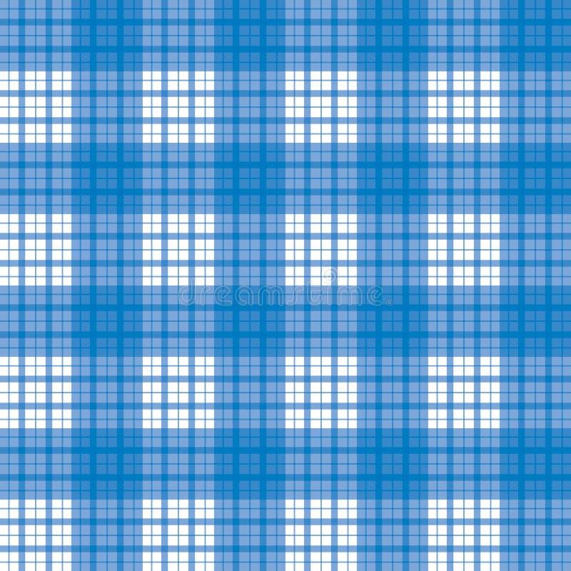 无缝蓝色被检查的模式 皇族释放例证