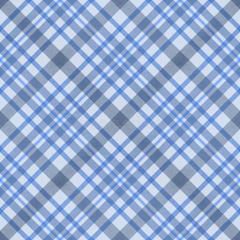 无缝蓝色被检查的织品的模式 皇族释放例证
