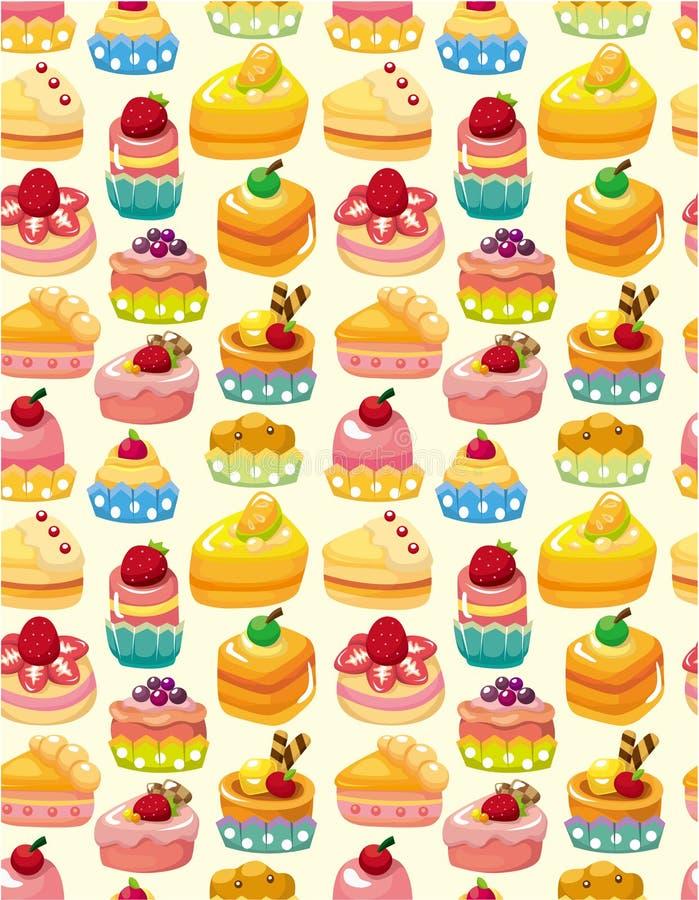 无缝蛋糕的模式 库存例证