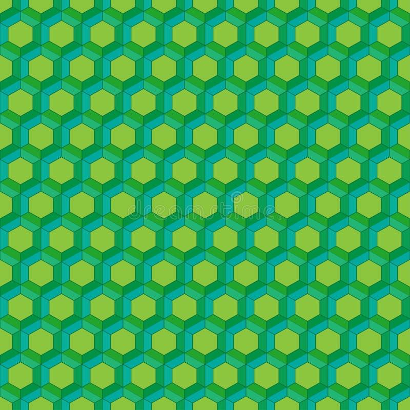 无缝蜂窝的模式 也corel凹道例证向量 六角电池纹理 在黄色背景的栅格 设计几何 现代时髦 向量例证