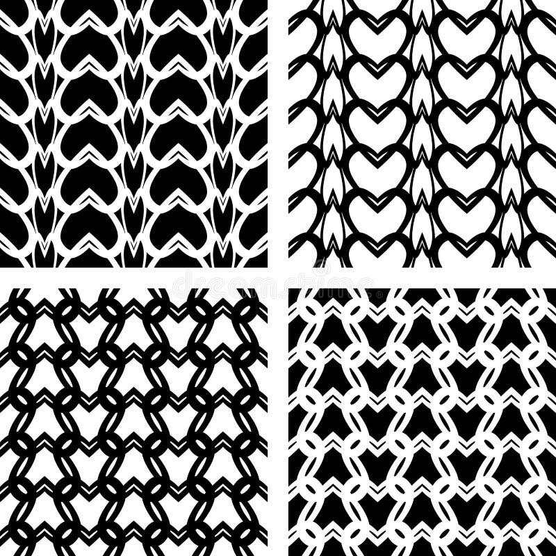 无缝被编织的有花边的模式 皇族释放例证