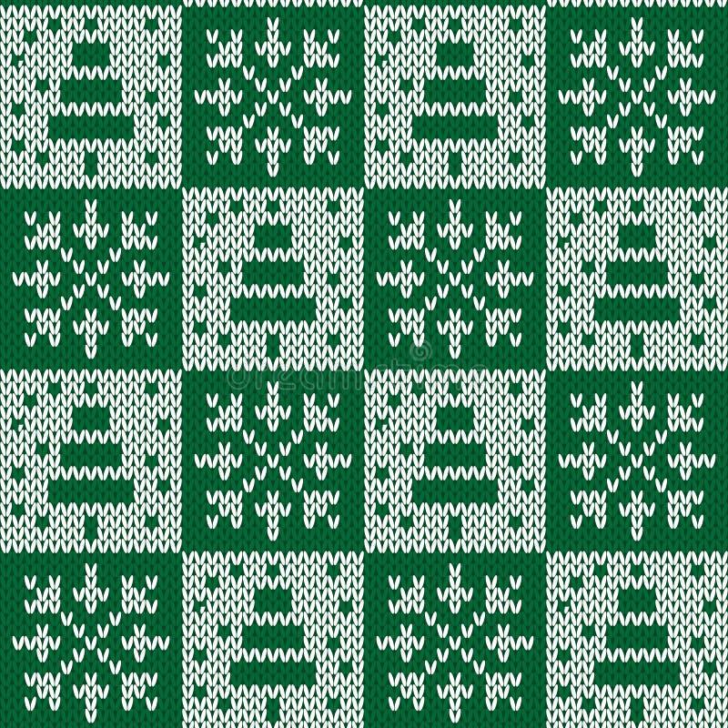 无缝被编织的模式 向量例证