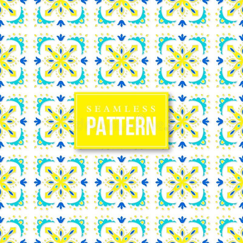 无缝装饰的模式 传统土耳其语, morrocan,蔓藤花纹,墨西哥装饰品 向量例证
