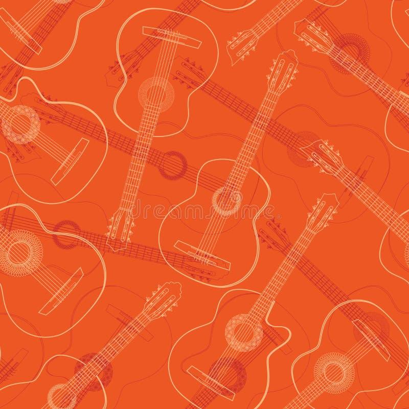 无缝西部,爵士乐,佛拉明柯舞曲,声学吉他 皇族释放例证