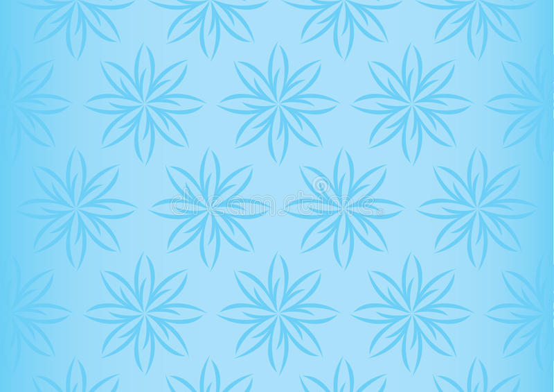 无缝软的浅兰的花卉重复的样式 库存例证