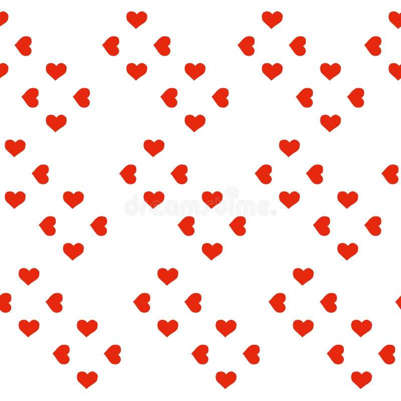无缝重点的模式 背景为恋人或华伦泰题材看起来甜和美好 向量例证
