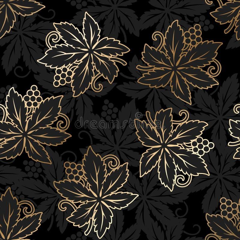 无缝锦缎花卉的模式 皇家墙纸 向量例证