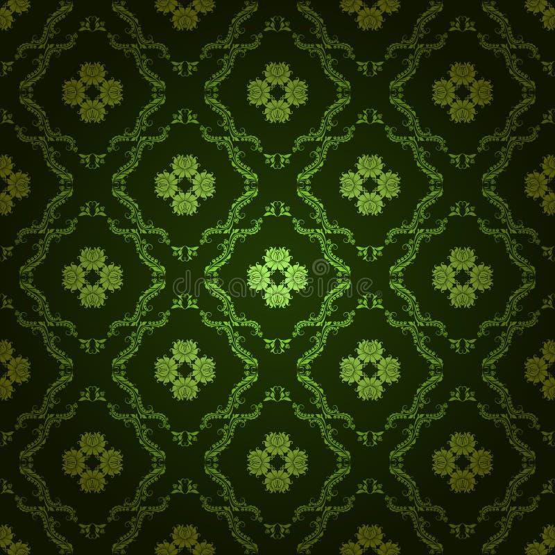 无缝锦缎花卉的模式 皇族释放例证