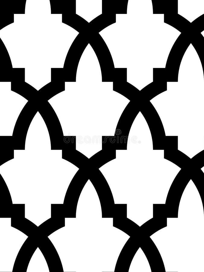 无缝阿拉伯的马赛克 皇族释放例证