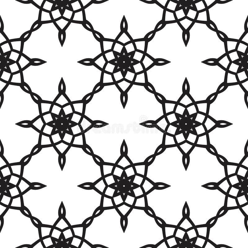 无缝阿拉伯经典几何的样式 皇族释放例证