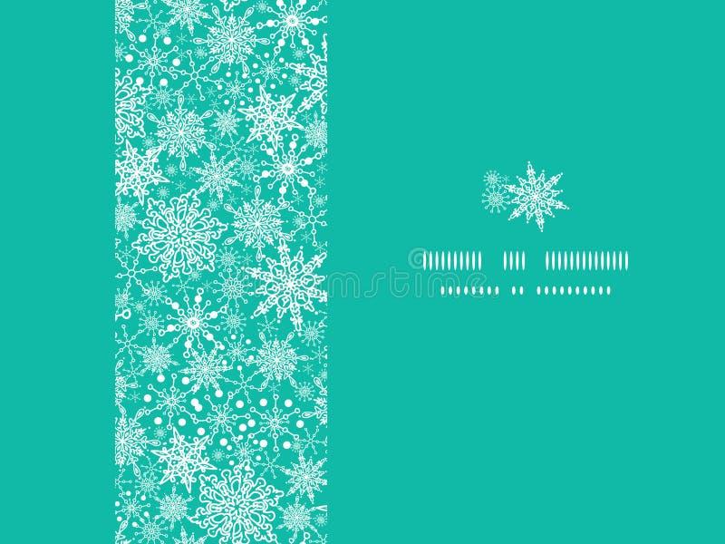 无缝雪花纹理水平的框架 库存图片