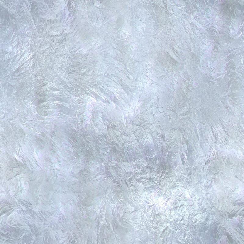 无缝霜的冰 皇族释放例证