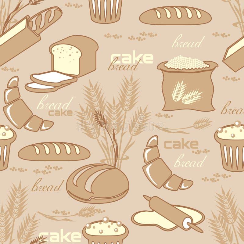 无缝面包的模式 皇族释放例证