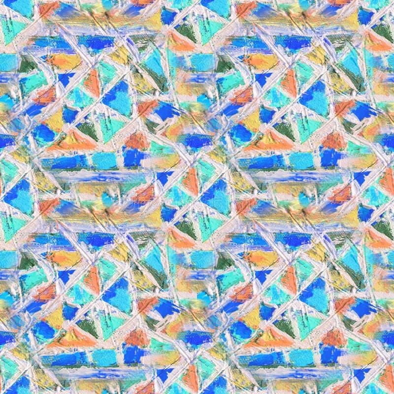 无缝马赛克的模式 抽象冰屑玻璃马赛克背景 几何样式背景 向量例证