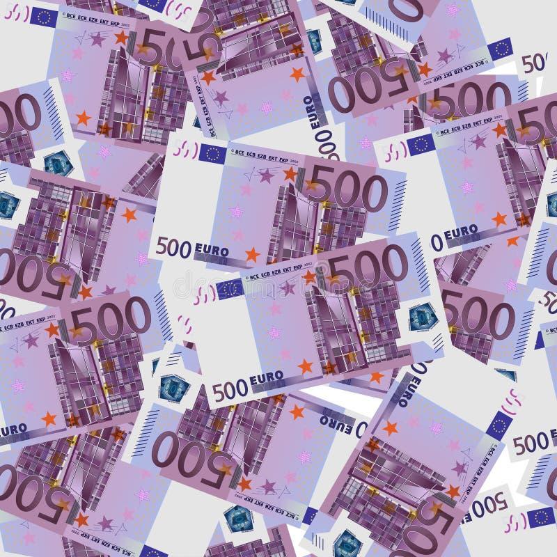 无缝500张欧洲的票据 皇族释放例证