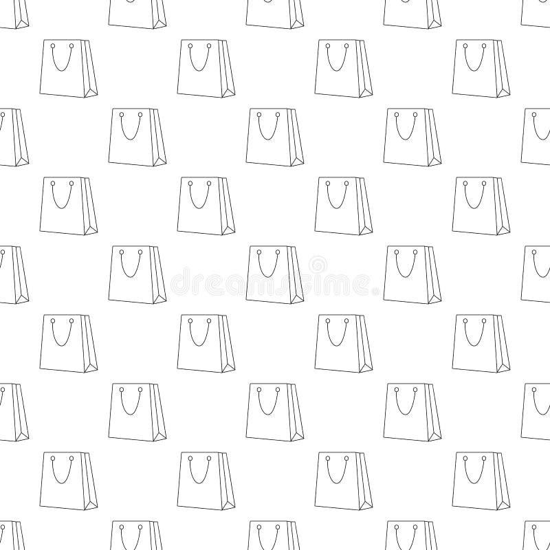 无缝购物袋的样式 库存例证