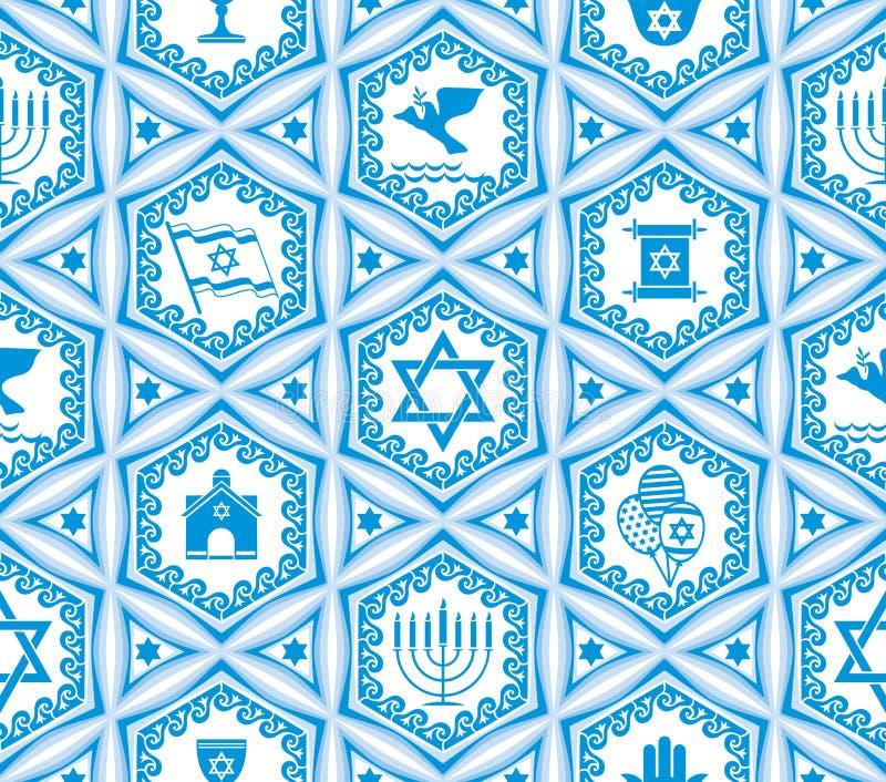 无缝以色列的设计 向量例证