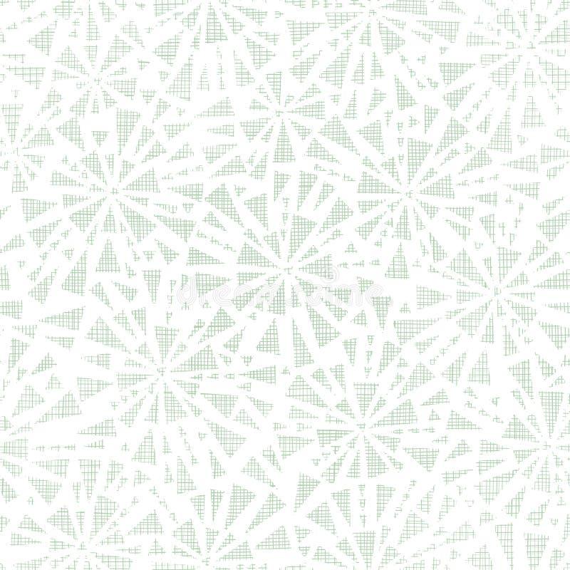 无缝绿色抽象三角纺织品的纹理 向量例证