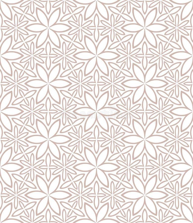 无缝florall的模式 皇族释放例证