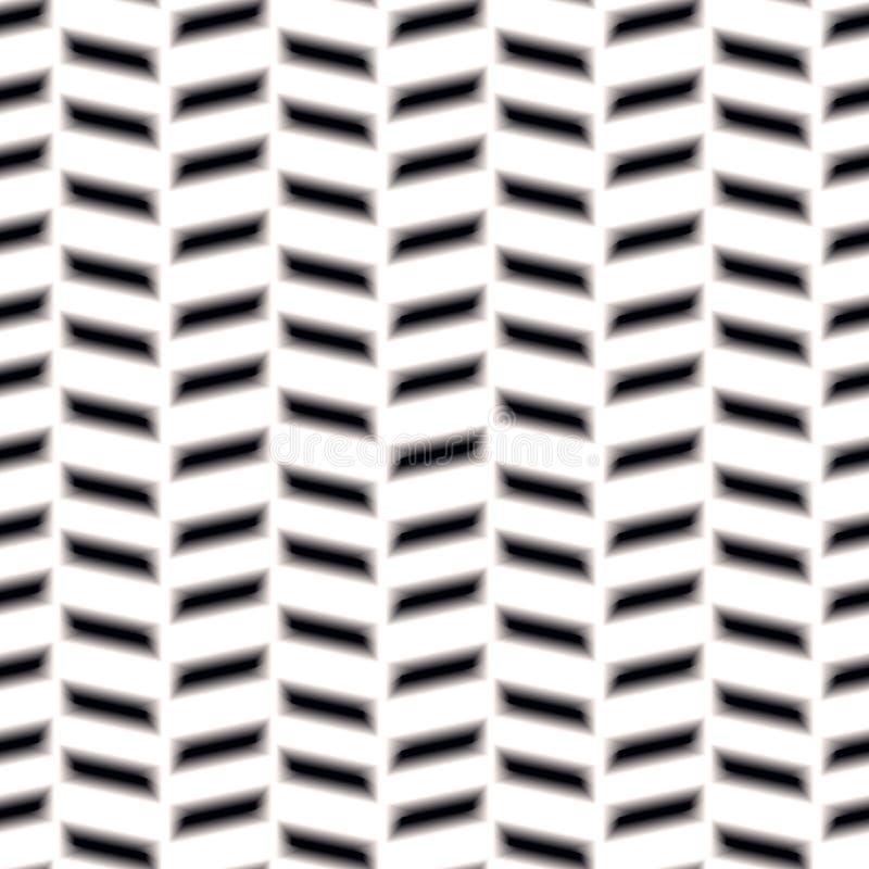 无缝V形臂章的模式 人字形被编织的无缝的样片样式传染媒介例证eps10 向量例证