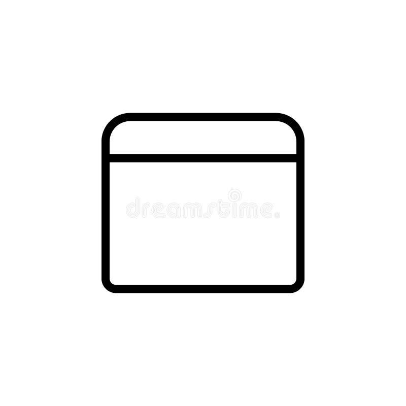 无背长椅象 minimalistic象的元素流动概念和网apps的 网站设计和发展的, ap稀薄的线象 向量例证