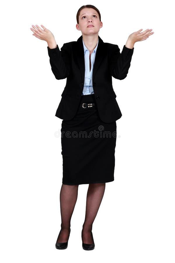 无能为力的妇女 免版税库存照片