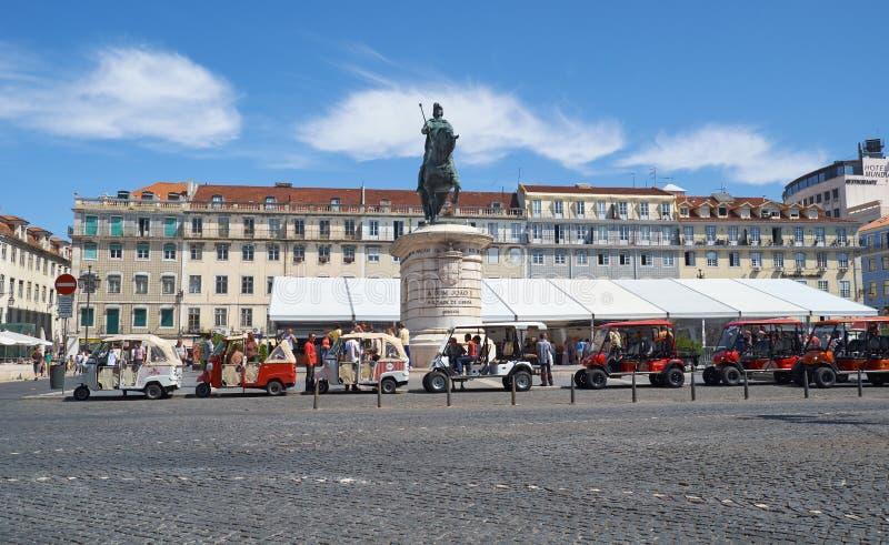 无花果树Praca da Figueira的正方形 里斯本 葡萄牙 免版税库存照片