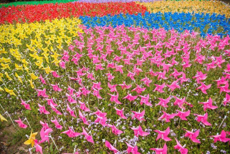 无锡Taihu桑植县风车 免版税库存照片