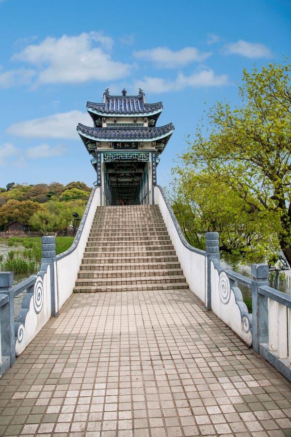 无锡Taihu鼋头渚Taihu仙岛将仙桥 库存图片