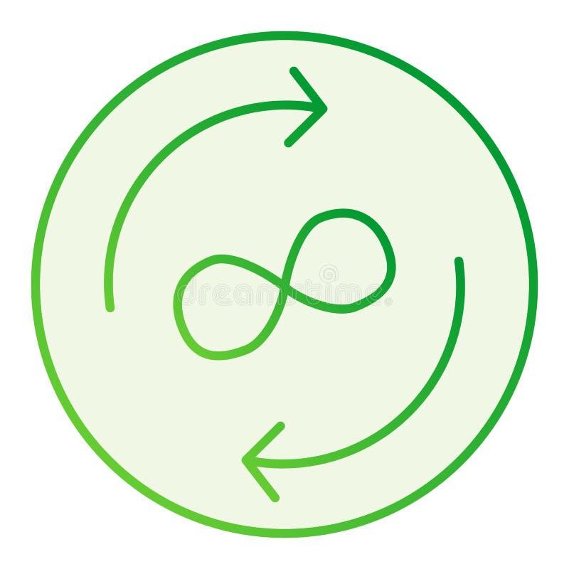 无限交换平的象 在时髦平的样式的圈子箭头灰色象 箭头和无限标志梯度样式 向量例证