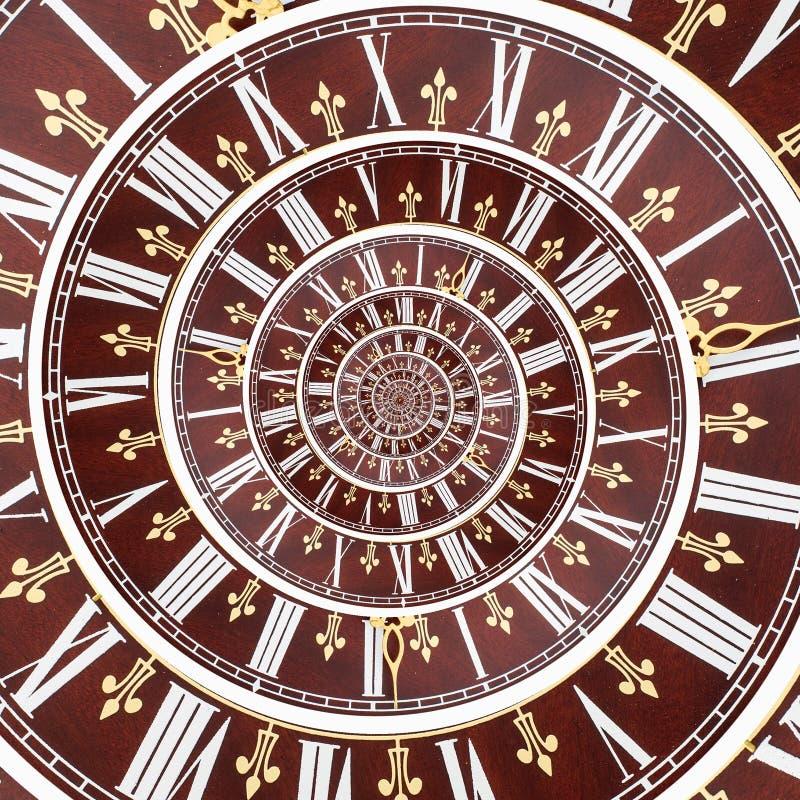 无限时间螺旋 库存照片