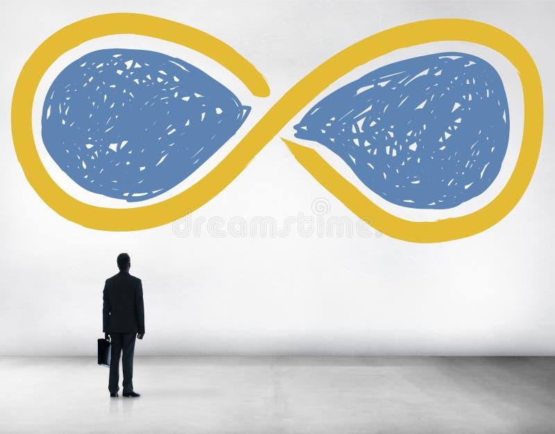 无限永远永恒圈永恒概念 库存照片