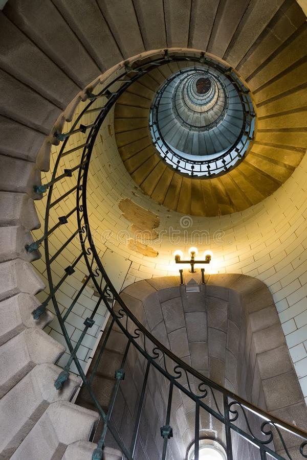 无限灯塔台阶 库存照片
