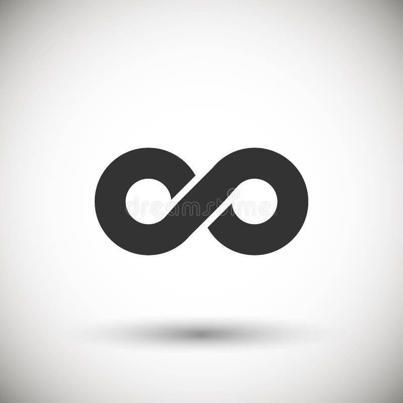 无限符号 向量例证