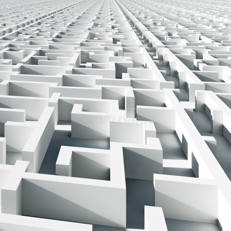 无限迷宫 免版税库存图片