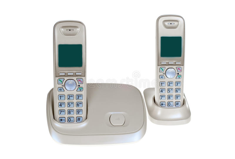 无绳的家庭电话 库存图片