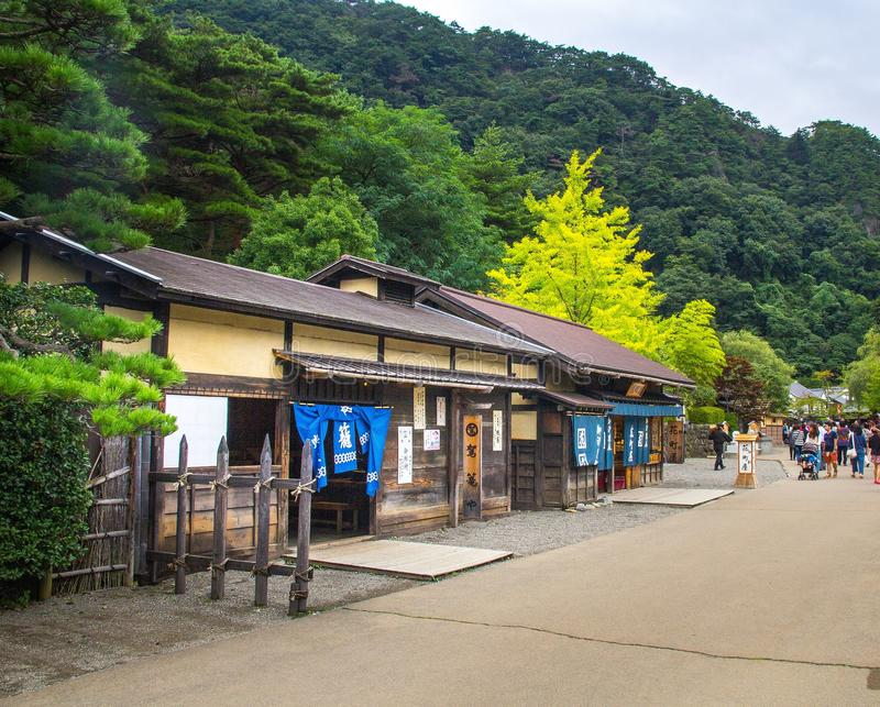 日光Edomura (伊多妙境) 免版税图库摄影