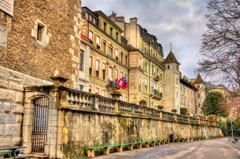 日内瓦市政厅  图库摄影