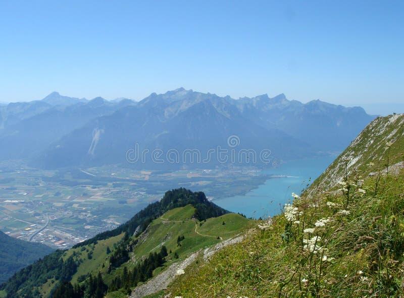 日内瓦湖视图villereuse 免版税图库摄影