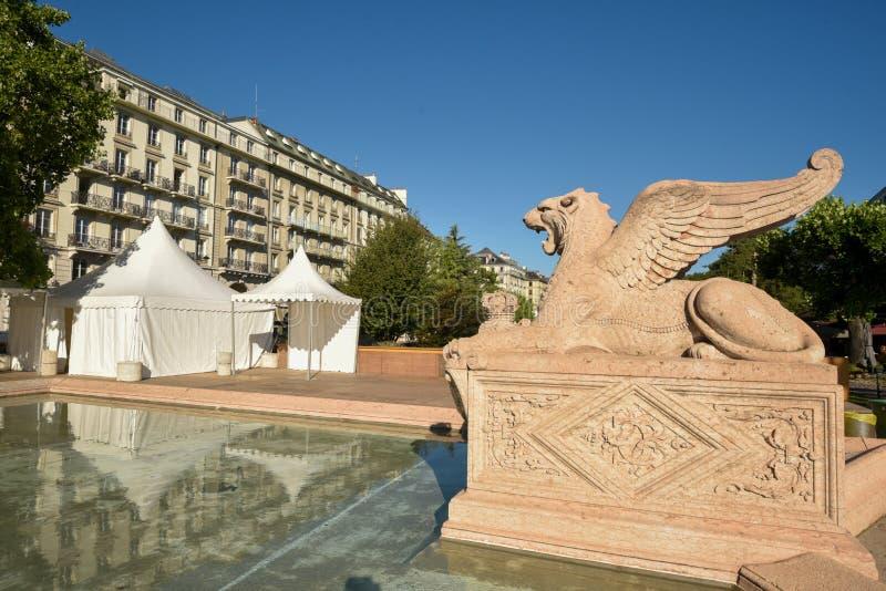 日内瓦瑞士布朗斯维克纪念碑 免版税库存照片