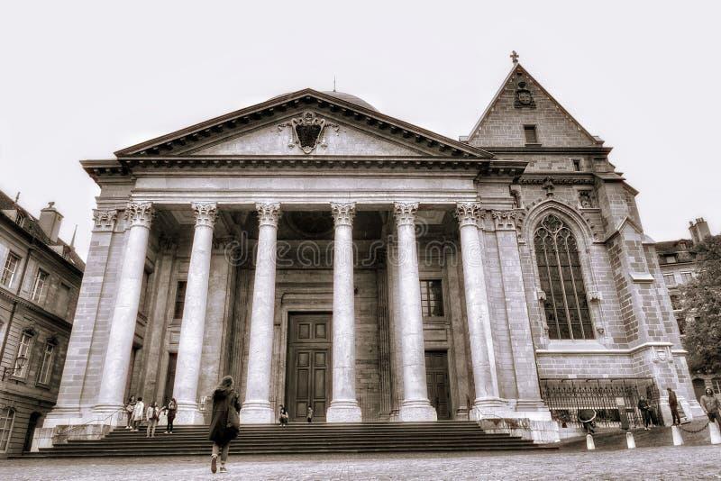 日内瓦老镇 免版税库存照片